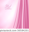 Elegant pink satin background. Vector illustration 36584201