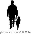 dog, man, black 36587334