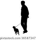 dog man black 36587347