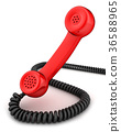 Red handset 36588965