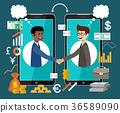 Internet working concept. Online business. 36589090