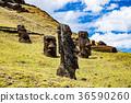 摩艾石像 拉诺拉拉库 复活节岛 36590260
