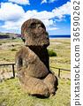 摩艾石像 拉诺拉拉库 复活节岛 36590262