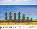 摩艾石像 拉诺拉拉库 复活节岛 36590275