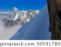 Mont Blanc mountain, from Aiguille du Midi. France 36591780