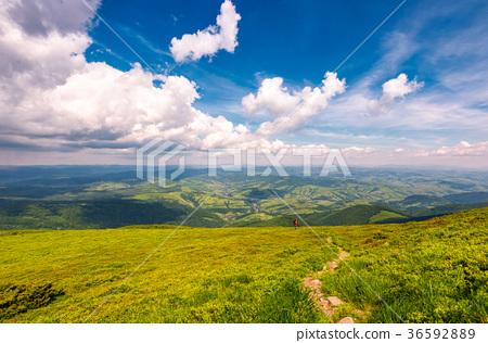 path through the mountain ridge 36592889