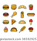 sixteen fast food icons 36592925