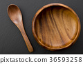 wooden spoon, wooden, container 36593258