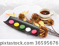 Isolated shot in studio - the Korean traditional colorful refreshments. 013 36595676
