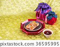 Isolated shot in studio - the Korean traditional colorful refreshments. 146 36595995