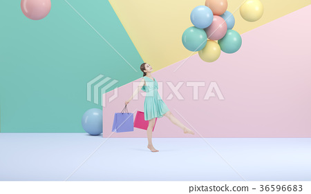 Enjoy shopping life, color Background 002 36596683