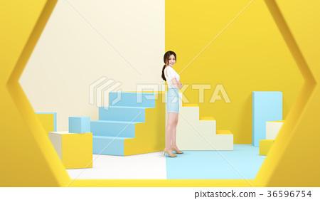 Enjoy shopping life, color Background 017 36596754