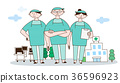 illustration adults building 36596923