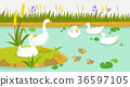 Peaceful wild animals, RF illustration 009 36597105