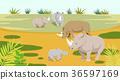 Peaceful wild animals, RF illustration 006 36597169