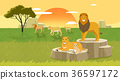 Peaceful wild animals, RF illustration 007 36597172