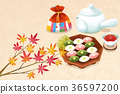Chuseok object, sensibility concept illustration 003 36597200