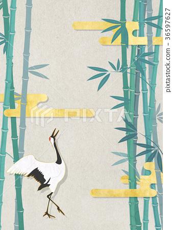 bamboo, crane, cranes 36597627