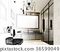 abstract sketch design of interior bathroom 36599049