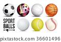 Sport Balls Set Vector. Isolated Illustration 36601496