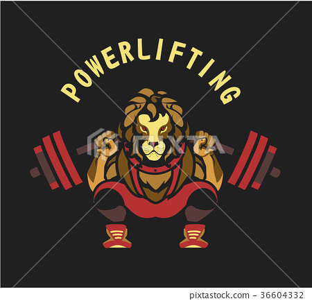 Powerlifting barbell squat 36604332