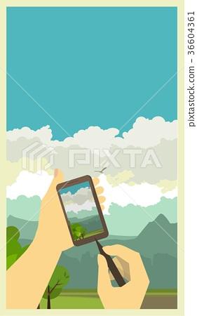 Photo phone Rural landscape 36604361