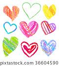 heart, hearts, handwritten style 36604590