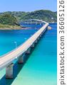 Tsunoshima Ohashi-A bridge over the emerald green sea-a scenic spot on Yamaguchi Prefecture- 36605126