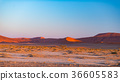 Sand dunes in the Namib desert 36605583