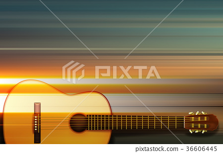 abstract background with acoustic guitar 36606445