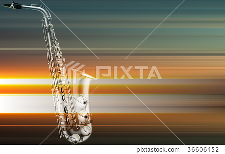abstract grunge piano background with saxophone 36606452