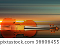 abstract grunge music background with violin 36606455