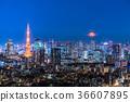 城市景觀 東京 夜景 36607895