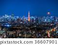 東京與月光的夜視圖 36607901