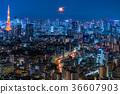 東京與月光的夜視圖 36607903