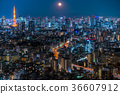 城市景觀 東京 夜景 36607912