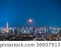 東京與月光的夜視圖 36607913