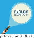 flashlight, beam, hand 36608932