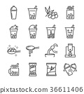 Bubble tea icon set.  36611406