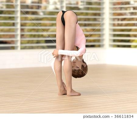 瑜伽 瑜珈 女性 36611834