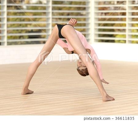 瑜伽 瑜珈 女性 36611835