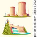 Alternative energy sources, vector cartoon set 36616502