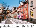 Riga, Latvia. Decorated Facades Of Old Houses On 36616928