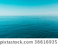 Sea Ocean And Blue Clear Sky Background 36616935