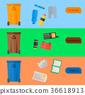 Weste recycling vector garbage cards waste types 36618913