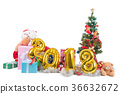 2018 happy new year and christmas concept gifts 36632672