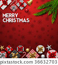 Christmas red background with gift boxes 36632703