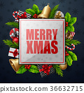 Christmas card background 36632715
