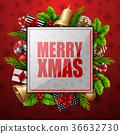 Christmas card background 36632730