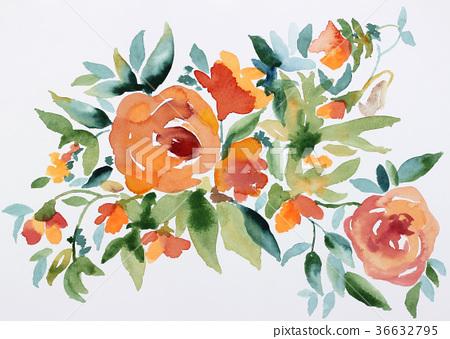 手繪 玫瑰花 玫瑰 36632795